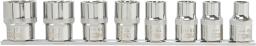 """NEO Zestaw nasadek spline 1/2"""" 10-24mm 8szt. (08-651)"""