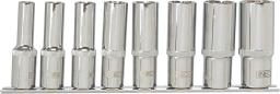 """NEO Zestaw nasadek spline 1/2"""" 10-24mm długich 8szt. (08-650)"""