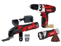 Einhell Zestaw narzędzi akumulatorowych - wkrętarka + multitool + latarka 2x1,3Ah TE-TK 12 Li (4257191)