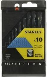 Wiertło do metalu Stanley HSS walcowe 1 - 10mm zestaw (STA56030)