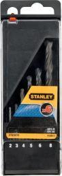Wiertło do metalu Stanley HSS walcowe 2 4 5 3 6 8mm zestaw (STA56010)