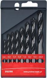 Wiertło do drewna Proline kręte 6 8 10 4 5mm zestaw (26295)