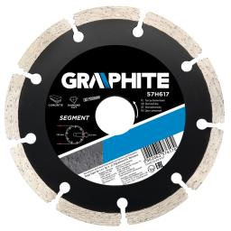 GRAPHITE Tarcza diamentowa 180x22,2mm segmentowa (57H618)
