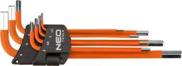 NEO Zestaw kluczy imbusowych hex typ L 1,5-6mm 7szt. (09-517)
