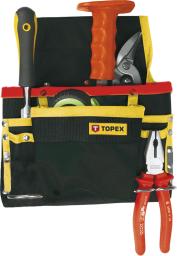 Topex Kieszeń na narzędzia 8 przegród metalowe uchwyty - 79R432
