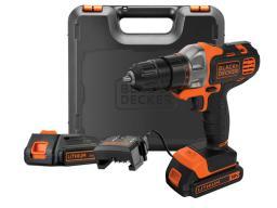 Black&Decker Wiertarko-wkrętarka Multievo™ 18V/1,5Ah 2xLi-Ion + walizka (MT218KB)