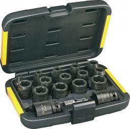 """Dewalt Zestaw nasadek udarowych 6-kątnych 1/2"""" 6-27mm 17szt. (DT7506-QZ)"""