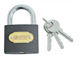 MEGA Kłódka kabłąkowa żeliwna 40mm - 24440