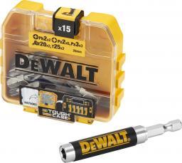 Dewalt Zestaw bitów 15szt. + mocowanie magnetyczne (DT71511)