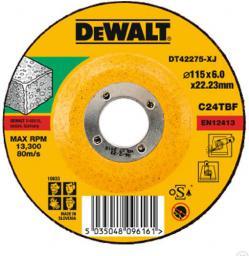 Dewalt Tarcza ścierna do szlifierek kątowych 115x22.2x6 do szlifowania betonu i kamienia - DT42275