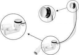 McAlpine Zestaw odpływowo-przelewowy z korkiem automatycznym chrom  (HC31M-N1)