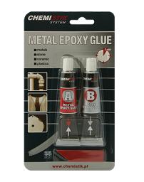 Chemistik Klej dwuskładnikowy epoksydowy METAL EPOXY GLUE 5min. 40g