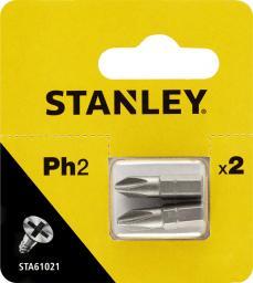 Stanley Końcówki wkrętakowe PH2x25mm 2szt. (STA61021)