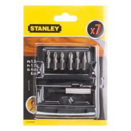 Stanley Końcówki wkrętarskie PZ/PH/SL + uchwyt magnetyczny (STA60480)