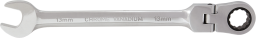 NEO Klucz płasko-oczkowy z grzechotką i przegubem 8mm (09-051)