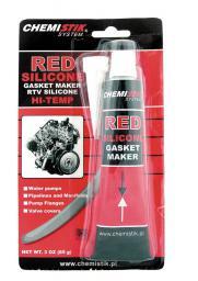 Chemistik Uszczelniacz sylikonowy 85g czerwony - 42040
