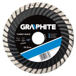 GRAPHITE Tarcza diamentowa 125x22,2 mm turbo wave (57H634)