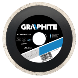 GRAPHITE Tarcza diamentowa 125x22,2mm pełna (57H642)