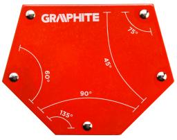 Graphite Spawalniczy kątownik magnetyczny 111x136x24mm 34,0kg (56H905)