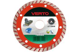 VERTO Tarcza diamentowa 115x22,2mm turbo (61H2T1)