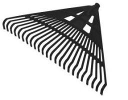 Profix Grabie plastikowe nieoprawione 430mm czarne - 12255
