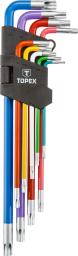 Topex Zestaw kluczy trzpieniowych torx typ L T10-T50 9szt. (35D969)