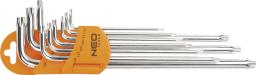 NEO Zestaw kluczy trzpieniowych torx typ L T10-T50 z otworem 9szt. (09-526)