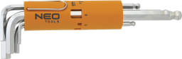 NEO Zestaw kluczy imbusowych hex typ L 2-10mm z kulką 8szt. (09-523)