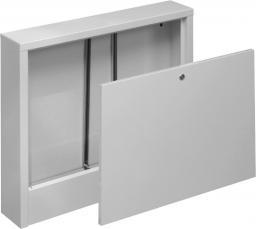 ONNLINE Szafka instalacyjna natynkowa 8-obiegów 615x580x110mm biała - 17298982