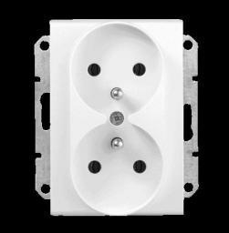 Schneider Electric Gniazdo podwójne z/u 16A białe (SDN2800921)