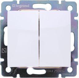 Legrand Łącznik schodowy podwójny biały Valena - 774408