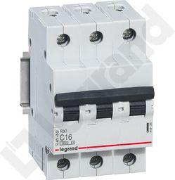 Legrand Wyłącznik nadprądowy RX3 3P C 16A 6000A - 419235