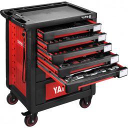 Wózek narzędziowy Yato 7 szuflad z wyposażeniem 165szt. (YT-55293)