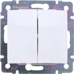 Legrand Przycisk przełączny Valena podwójny biały (774218)