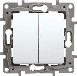 Legrand Przycisk podwójny przełącznik 6A biały Niloe - 664508