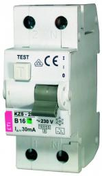 Eti-Polam Wyłącznik różnicowo-nadprądowy KZS-2M 2P 16A B 0,03A typ AC - 002173104