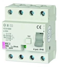 Eti-Polam Wyłącznik różnicowoprądowy EFI6-4 4P 40A 0,03A AC 002062138