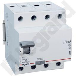 Legrand Wyłącznik różnicowoprądowy 4P 25A 0,03A typ AC RX3 402062