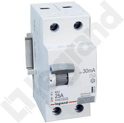 Legrand Wyłącznik różnicowoprądowy 2P 25A 0,03A typ AC RX3 (402024)