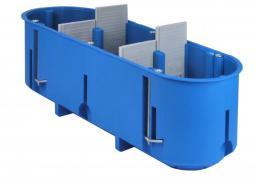 Simet Puszka podtynkowa 3-krotna P3x60D 60mm regips głęboka niebieska - 32104203