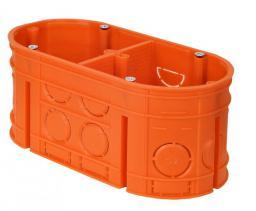 Simet Puszka podtynkowa Multiwall 2-krotna M2X60F 60mm pomarańczowa (33160008)