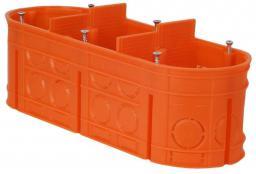Simet Puszka podtynkowa 3-krotna MULTIWALL M3X60F 60mm pomarańczowa - 33167008