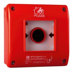 Spamel Ręczny ostrzegacz pożarowy A n/t OP1 1NO 1NC 230V OP1-W01-A11-230