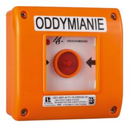 Spamel Ręczny przycisk oddymiania n/t OD1 B 1NO 24V OD1-W01-B-24