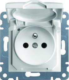 Hager Polo Gniazdo Lumina2 2P+E 230V 16A IP44 biały (WL1120)