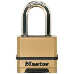 MasterLock Kłódka Excell 50mm cynkowana na szyfr BOR/OCT 9mm (M175EURDLF)