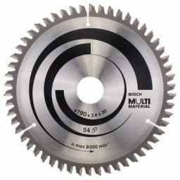 Bosch Piła tarczowa 190x30x2,4mm 54z. MULTI MATERIAL - 2608640509