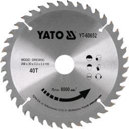 Yato Piła tarczowa do drewna z węglikiem wolframu 40T 200x30mm (YT-60652)