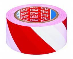 Tesa Taśma samoprzylepna ostrzegawcza 33m 50mm czerwono-biała (H6076092)