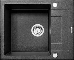 Deante Zlewozmywak 1-komorowy Rapido z krótkim ociekaczem grafitowy metalik ZQK G11A